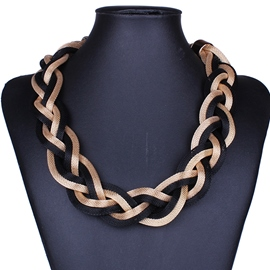 Ericdress Metal Twist Short Necklace