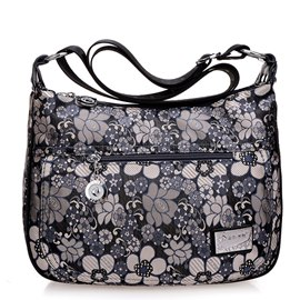 Ericdress Floral Embroidery Oxford Cloth Crossbody Bag