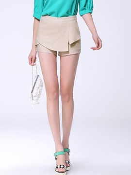 Ericdress Simple Asymmetric Shorts