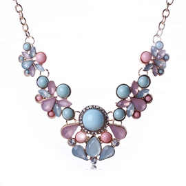 Ericdress Elegant Gemstones Decorated Necklace