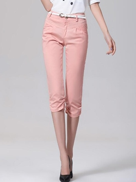 Ericdress Pleated Seven Points Casual Pants
