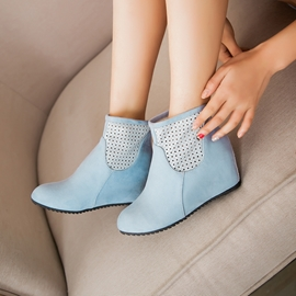 Ericdress Patchwork Cut Out Ankle Boots