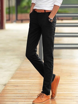 Ericdress Quality Plain Thin Slim Men's Pants
