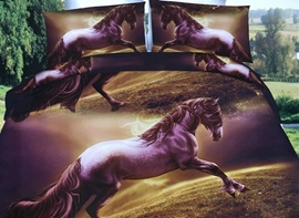 Ericdress Galloping Horse Print 3D Bedding Sets