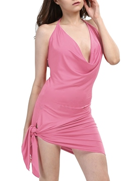 Ericdress Solid Color Backless Sexy & Clubwear Dress