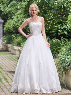 Ericdress Beautiful Beaded Appliques Sweetheart A Line Wedding Dress