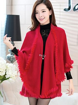 Ericdress Cashmere Solid Color Cape