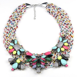 Ericdress Splendid Handmade Beading Necklace
