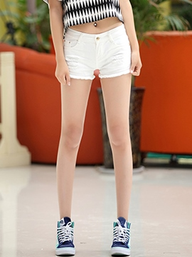 Ericdress Casual Raw Edges Shorts