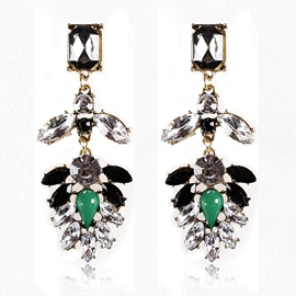 Ericdress Vintage Gemstones Inlaid Earrings