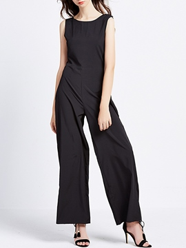 Ericdress Simple Holllow Wide Legs Jumpsuits Pants