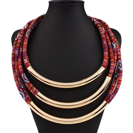 Multilayer Alloy Cotton Necklace