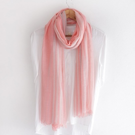 Ericdress Simple Stripe Linen Scarf