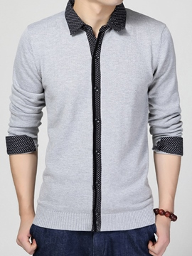 Ericdress Double-Layer Single-Breasted Vogue Men's Knitwear