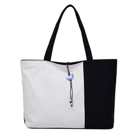 Ericdress Color Block Tote Bag