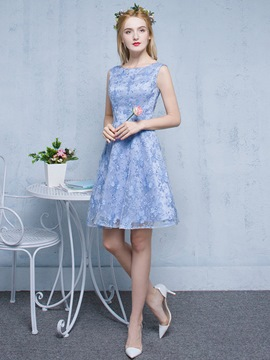 Ericdress A-Line Bateau Lace Short Homecoming Dress