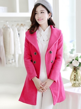 Ericdress Double-Breasted Lapel Coat