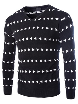Ericdress Triangle Pattern V-Neck Vogue Men's Sweater