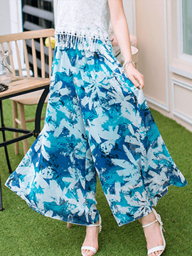 Ericdress Chinese Ethnic Print Pants