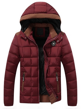 Ericdress Flocking Thicken Warm Men's Winter Coat