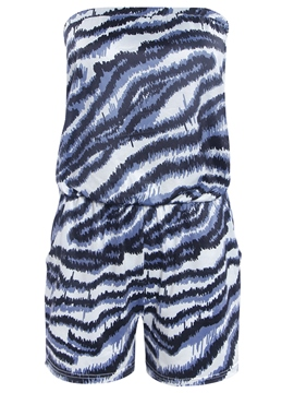 Ericdress Print Strapless Rompers