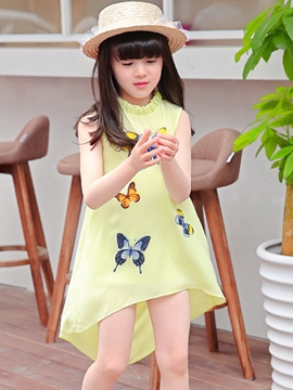 Ericdress Butterfly Asymmetrical Girls Dress
