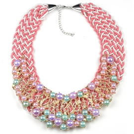 Ericdress Colorful Pearls Inlaid Beading Necklace