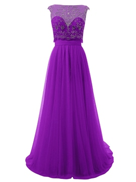 Ericdress A-Line Scoop Cap Sleeves Beaded Draped Homecoming Dress