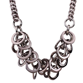 Ericdress Metal Circle Design Necklace