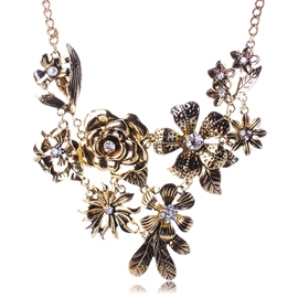 Ericdress Alloy Flowers Vintage Necklace