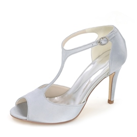 Ericdress Elegant T Strap Peep Toe Wedding Shoes