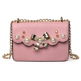 Ericdress Vintage Pearl Decorated Crossbody Bag
