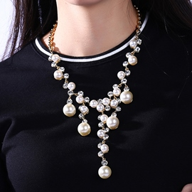 Ericdress Gold Plated Pearl Necklace