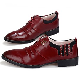 Ericdress Point Toe Brush Off Rivets Decorated Men's Oxfords