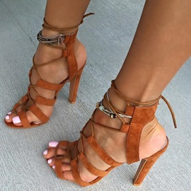 Ericdress Ethnic Cut Out Stiletto Sandals