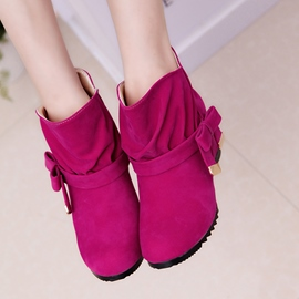 Ericdress Bright Bowtie Ankle Boots