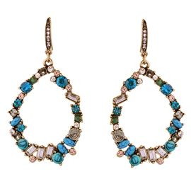 Ericdress Colorful Rhinestone Decor Earrings