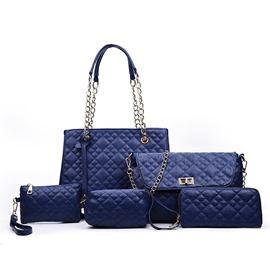 Ericdress Vogue Grained Handbags(5 Bags)