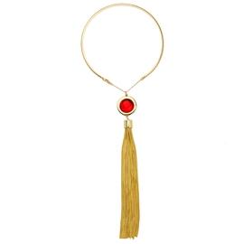 Ericdress Ruby Tassel Necklace