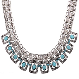 Ericdress Chic Turquoise Inlaid Necklace