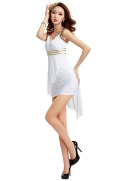 Ericdress Sequins V-Neck Iregular Sexy Clubwear
