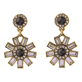 Ericdress Alloy Crystal Flower Earrings