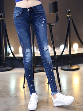 Ericdress Ripped Decoration Jeans