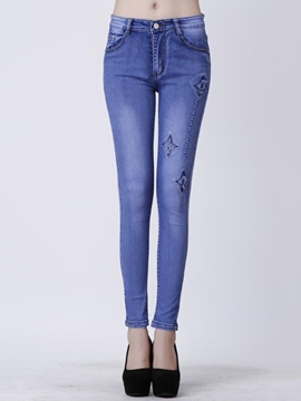 Ericdress Unique Print Jeans