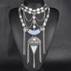 Ericdress Alloy Tassels Retro Necklace
