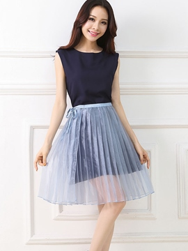 Ericdress Sweet Pleated Dress Suit