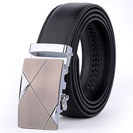 Ericdress Men's Embossed Cowhide Belt