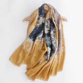 Ericdress Lucky Clover Print Cotton Scarf