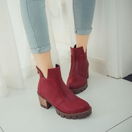 Ericdress Popular Round Toe Ankle Boots