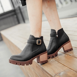 Ericdress Round Toe Buckles Ankle Boots